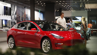 Tesla is de-emphasising the $US35,000 price point promised when it first unveiled the sedan in March 2016.
