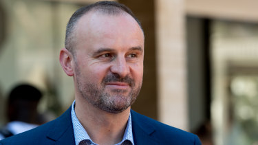 Andrew Barr, who dismissed the federal budget as open electioneering.