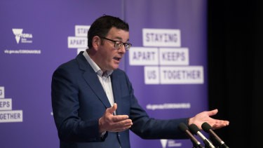 Premier Daniel Andrews on Saturday.