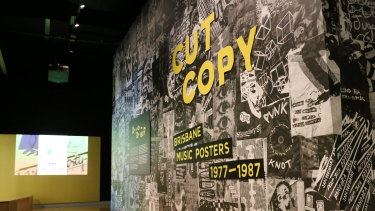 The State Library of Queensland's new exhibition of posters explores Brisbane's music scene in the 1970s and '80s.