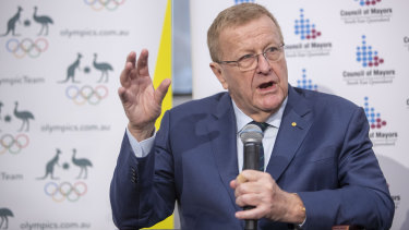 """Mutterings"": Australian Olympic Committee president John Coates has accused his Sports Commission rival John Wylie of ""relevance deprivation""."