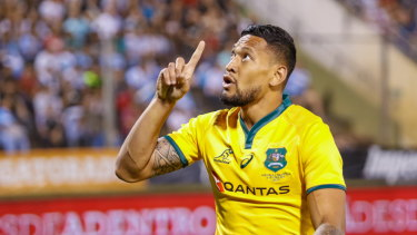 Israel Folau's record against South Africa wasn't outstanding.