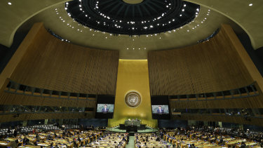 The United Nations General Assembly.