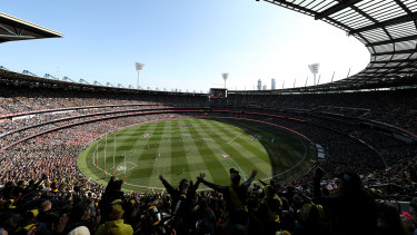 Big dance: The 2019 AFL grand final between the Richmond and Greater Western Sydney at the MCG.