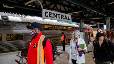 NSW Transport Minister Andrew Constance says not enough people are wearing masks in Sydney.