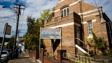 State over church: the disused church on Illawarra Road in Marrickville could be turned into a block of affordable housing units.