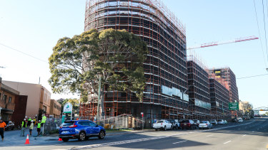 One of Ralan's projects in Arncliffe, which is now at a standstill.