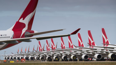 No one could have predicted that in 2020 airlines and oil producers would be smashed by a sudden shutdown in global air travel.  Qantas has grounded some of its fleet at Avalon Airport in Victoria.
