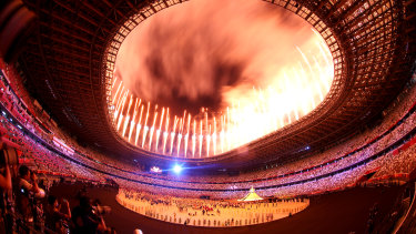 View inside the stadium.