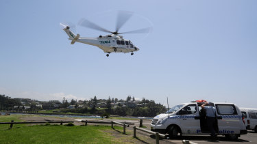 Another man, a boy and a girl, aged in their mid to late teens, wereremoved from the water by Kiama Surf Life Saving jet-skis uninjured, police said.