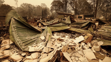 The bushfire has destroyed Mallacoota in Victoria.