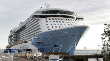 The Ovation of the Seas in Tauranga, New Zealand,