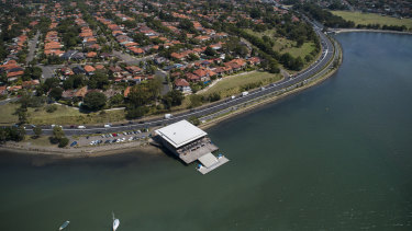 UTS Rowers Club it Haberfield at the location marked  as Bloody Point in Bradley's log.