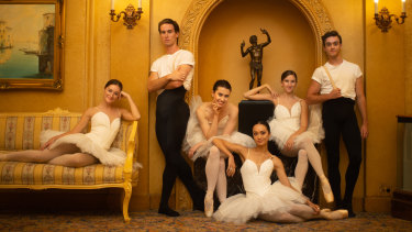 Telstra Ballet Dancers Awards nominees (left to right) Imogen Chapman, Nathan Brook, Serena Graham, Jasmin Durham, Corey Herbert and Cameron Holmes.