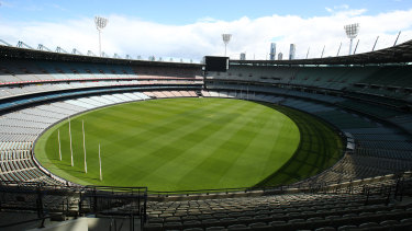 The prospect of holding this year's grand final at the MCG remains precarious.