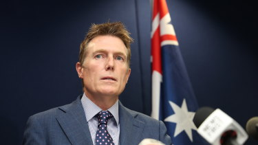 Attorney-General Christian Porter strongly denying allegations at a press conference on Wednesday that he raped a young woman 33 years ago.