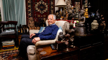 Dr John Yu with a small part of the vast collection he has amassed over a lifetime.