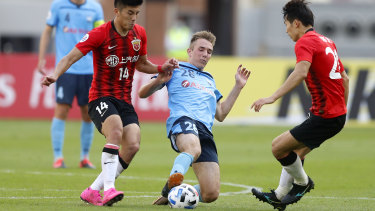 Sydney FC's Calem Nieuwenhof was forced to remain in hotel quarantine in the city.