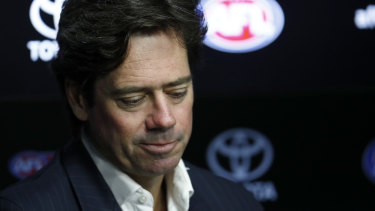 Gillon McLachlan wants the AFL to emerge from the pandemic shutdown with all 18 clubs.