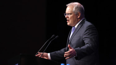 "Prime Minister Scott Morrison took aim at the ""militant"" Maritime Union of Australia over the Sydney port dispute."