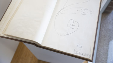 White's famous guest book.