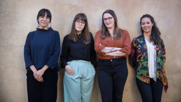 The translation and founding team of Shifra: Melanie Buddhipala, Lauren Crystal, Rebeccah Bartlett and Sonia Sanchez Moreno.