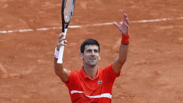 Novak Djokovic won his quarter-final match against Germany's Alexander Zverev.
