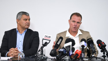 Alen Stajcic fronted the media on Monday alongside coaches' association boss Phil Moss.