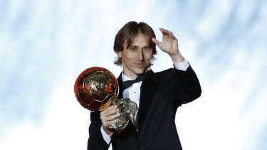 One to remember: Luka Modric starred for both World Cup finalists Croatia and European champions Real Madrid.