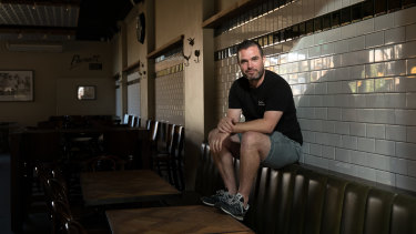 """We were losing tens of thousands a week if we stayed open"" : Publican Ray Reilly at The Henson hotel in Marrickville."