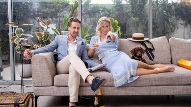 Steph Beckett and Bo Phillips will be dressing up, ordering their favourite foods and hitting the couch on Saturday.