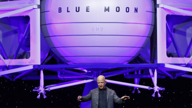 Jeff Bezos' Blue Origin lander sits at the centre of the space company's ambition to ferry humans into deep space and land key contracts from the US space agency for space exploration.