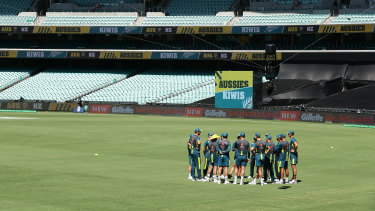 Australia warms up to empty stands after Cricket Australia announced no public will be admitted to venues for the three match series.