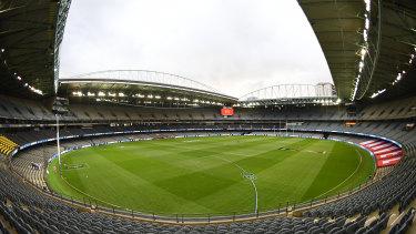 The AFL-owned Marvel Stadium.