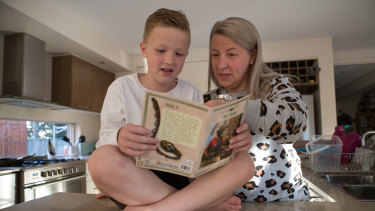 """Tait Williams and his mum Lauren: """"They are teaching faulty strategies,"""" she says."""