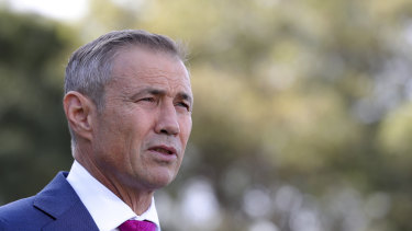 """WA Health Minister Roger Cook says WA's plan is to """"suppress COVID-19 was a vengeance""""."""