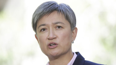 "Labor Senate leader Penny Wong say Steven Ciobo and Christopher Pyne have joined a ""stampede"" by senior Liberals out of the government."