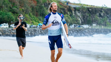 Owen Wright says there's a lot of adrenaline flowing with the return to competitive surfing.