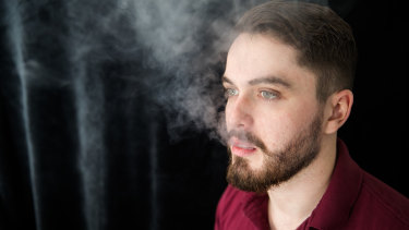 Callan Strickleton switched from smoking cigarettes to vaping and wants it to be legal.