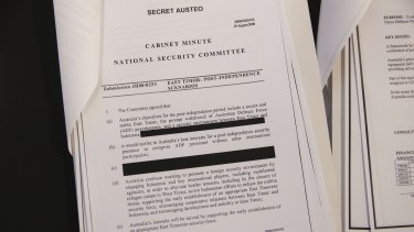 Cabinet papers from 2000 have been released by the National Archives of Australia.
