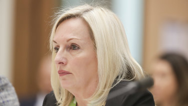 Australia Post chief executive Christine Holgate at Senate estimates in March.
