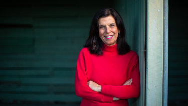 Julia Banks, near her home on the Mornington Peninsula, has returned to public life to help make it  more respectful of women.