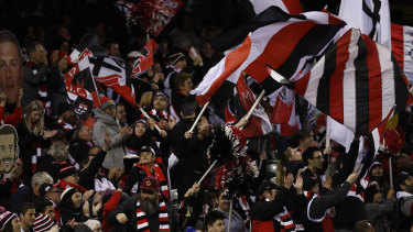 Out in support: Loyal Saints fans need something to cheer about.