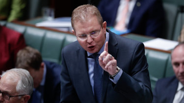 'I am concerned that the merger of the CFMEU and MUA will impact Australia's reputation as a productive place to do business,' Employment Minister Craig Laundy says.
