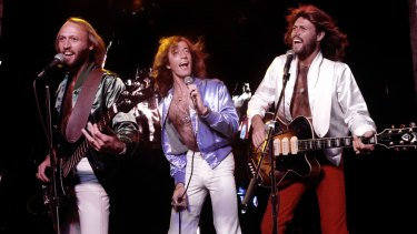 A long way from Redcliffe … Maurice, Robin and Barry Gibb in Los Angeles in 1979 at the height of their fame.