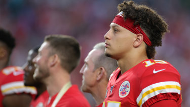 Patrick Mahomes scored the first touchdown of the game.