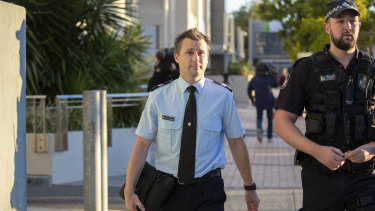 Forensic crash investigator Senior Constable Steven Cornish outside court.