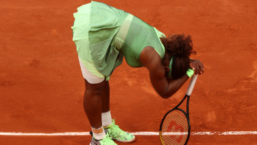 Serena Williams after losing at the French Open.