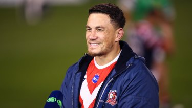 Sonny Bill Williams interviewed by Fox Sports after his return to the NRL on Saturday.