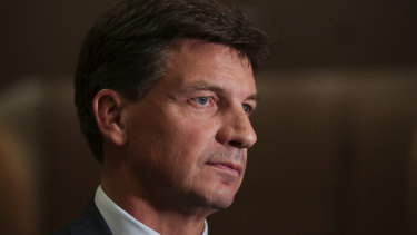Federal Energy Minister Angus Taylor slammed AGL's high half yearly profits as households face record power bills.